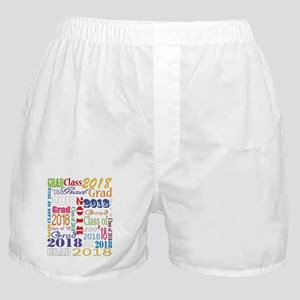 2018 Graduation Typography Boxer Shorts