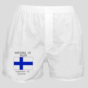 Finnish Inspect of Saunas Boxer Shorts