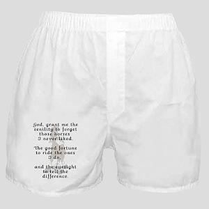 Funny Rider's Prayer Boxer Shorts