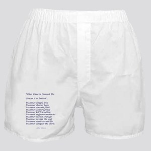 What Cancer Cannot Do Poem Boxer Shorts