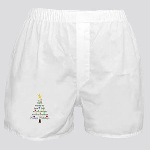 CHRISTMAS TREE GREETINGS Boxer Shorts