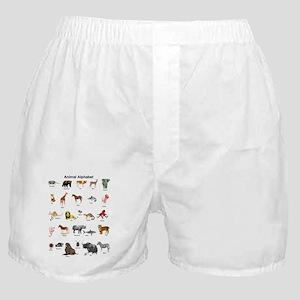 Animal pictures alphabet Boxer Shorts