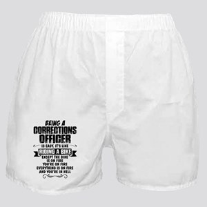 Being A Corrections Officer... Boxer Shorts