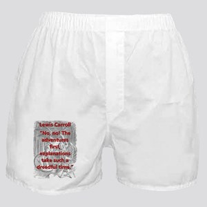 No No The Adventures First - L Carroll Boxer Short