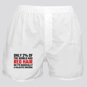 Only 2 Percent Of The World Has Red H Boxer Shorts