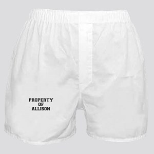 Property of ALLISON Boxer Shorts