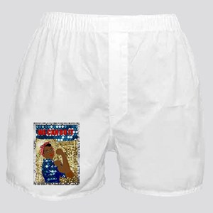 african rosie the riveter Boxer Shorts
