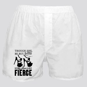 Though She Be But Little/Fierce Shoes Boxer Shorts