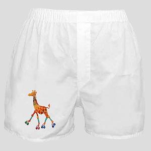 Roller Skating Giraffe Boxer Shorts