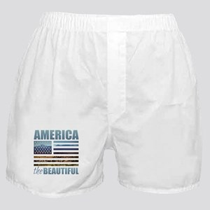 America the Beautiful Boxer Shorts