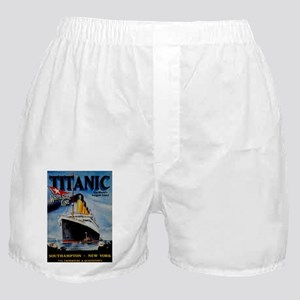 Vintage Titanic Travel Boxer Shorts