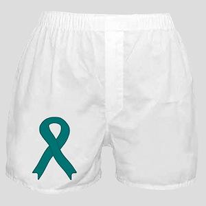 Teal Ribbon Boxer Shorts