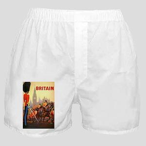 Vintage Travel Poster Britain Boxer Shorts
