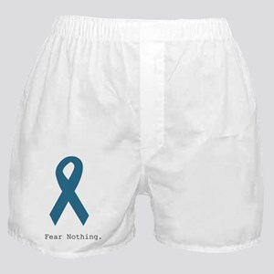 Fear Nothing. Teal Rib Boxer Shorts