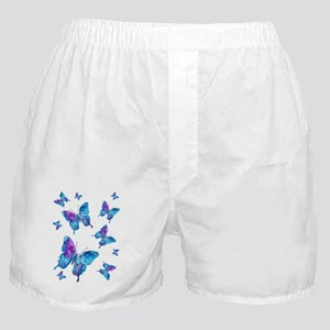 Electric Blue Butterfly Flurry Boxer Shorts