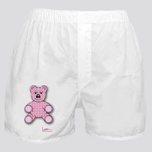Pink Gingham Teddy Bear Boxer Shorts