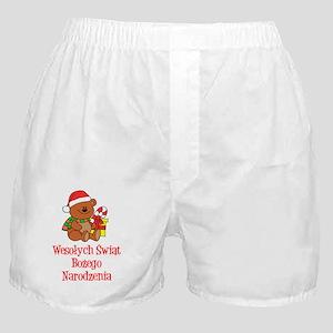Polish Chrismas Baby Shirt Boxer Shorts