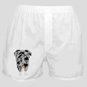 BlueMerleAussieShirtBack Boxer Shorts