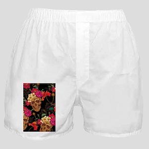 floral Skulls Boxer Shorts