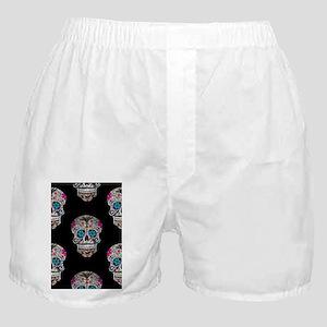 sequin Sugar Skulls Boxer Shorts