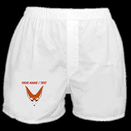 Custom Red Fox Boxer Shorts