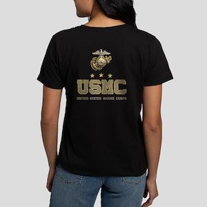 72c53a08 USMC - Eagle Globe Anchor Women's Dark T-Shirt