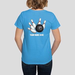 Personalized Team Bowling Women's Dark T-Shirt