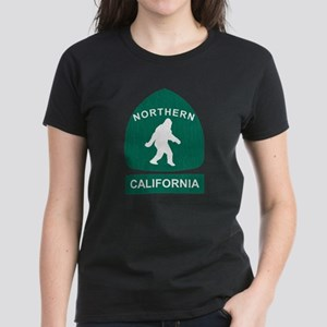 Northern California Bigfoot Sign (vintage look) T-