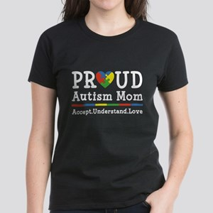 Proud Autism Mom Women's Dark T-Shirt