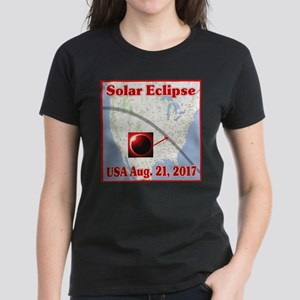 Solar Eclipse USA 2017 Women's Dark T-Shirt