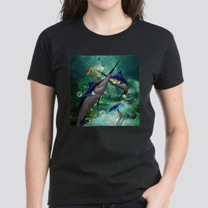 Awesome marlin with jellyfish T-Shirt