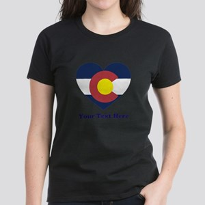 Colorado Flag Heart Personal Women's Light T-Shirt