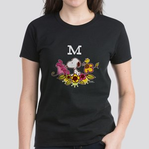 Snoopy Yellow Flower Monog Women's Classic T-Shirt