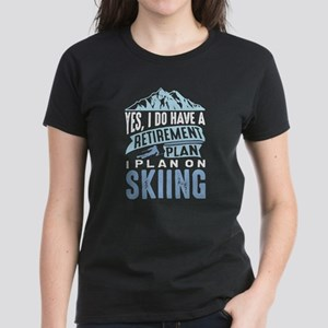 Retirement Plan Skiing Women's Dark T-Shirt