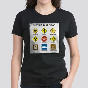 Knitting Road Signs T-Shirt