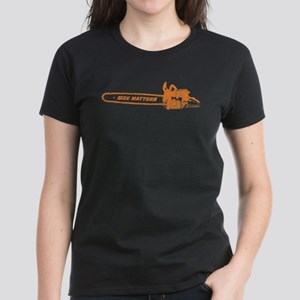 Size Matters (Chainsaw) Women's Dark T-Shirt