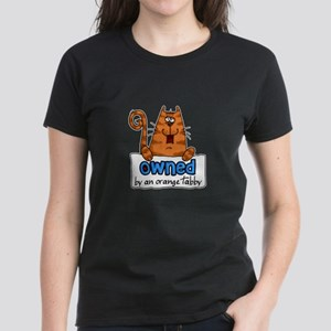 owned by an orange tabby Women's Dark T-Shirt
