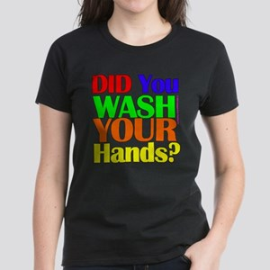 Washed Hands? (Colours) Women's Dark T-Shirt