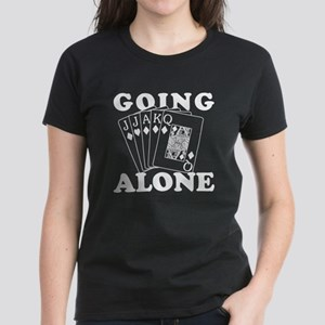 Euchre Going Alone/Loner Women's Dark T-Shirt