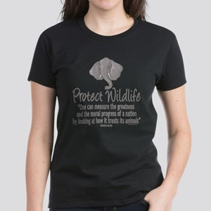 Protect Elephants Women's Dark T-Shirt