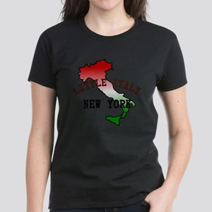 Little Italy New York Women's Dark T-Shirt