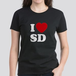 I Love San Diego Women's Dark T-Shirt