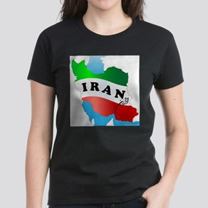 Iran Map with Flag T-Shirt