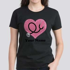 Personalized Nurse Heart Women's T-Shirt