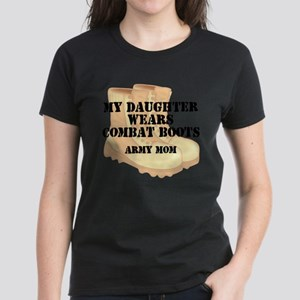 Army Mom Daughter Desert Combat Boots T-Shirt