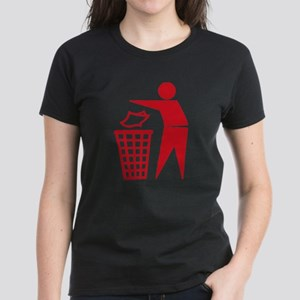 Red Please Dont Litter T-Shirt