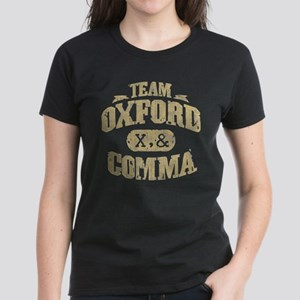 Team Oxford Comma Women's Dark T-Shirt