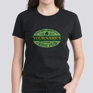 Custom Irish Pub Vintage Women's Dark T-Shirt