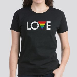 LOVE - Gay Pride Women's Dark T-Shirt