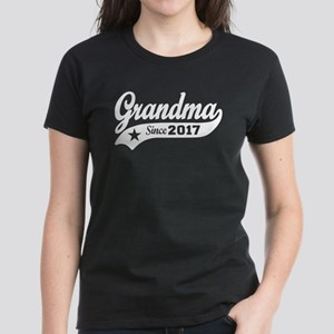 Grandma Since 2017 Women's Dark T-Shirt